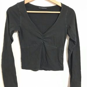 Brandy Melville Black Cinch Long Sleeve